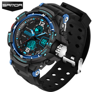 Sport Diving Watch Man LED Digital Quartz Wrist Watches Man Top Brand Luxury SANDA