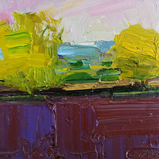 Buy 'Ploughed Fields, Autumn' an original oil painting by Emerson Mayes at The Biscuit Factory