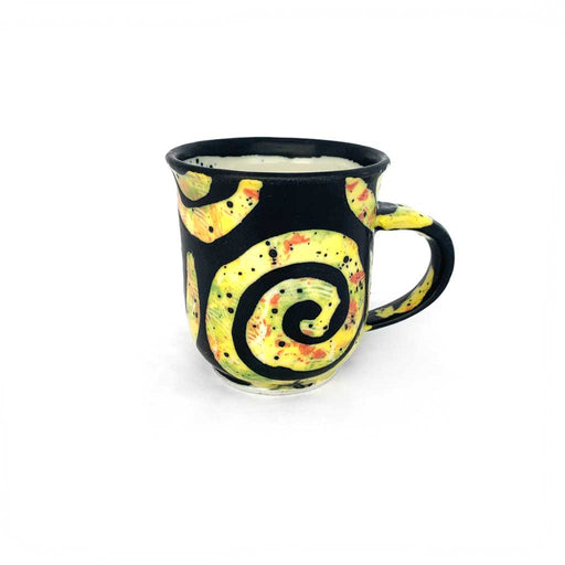Buy 'yellow arabesque cup' handmade ceramics by George Ormerod at The Biscuit Factory