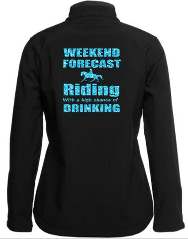 Weekend forecast  riding drinking soft shell Jacket
