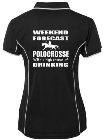 Weekend forecast polocrosse & drinking polo shirt