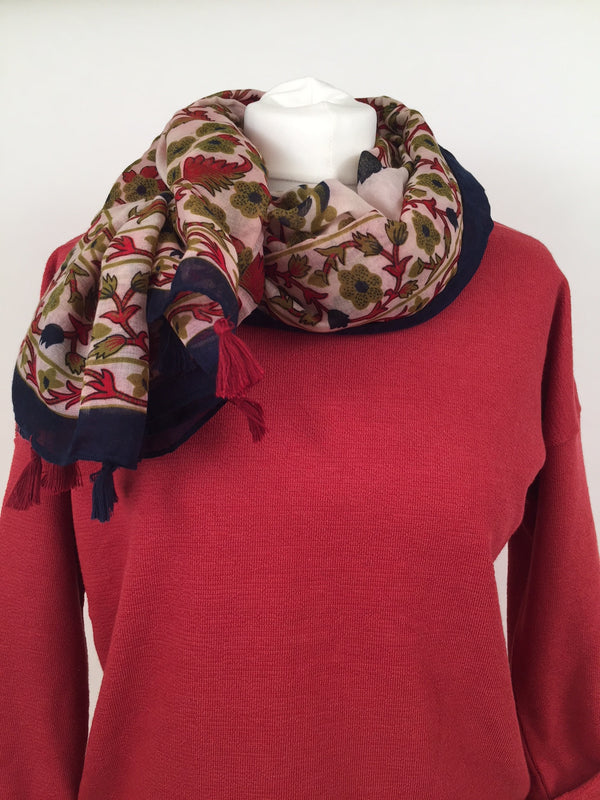 Scarf - Dark and Maroon