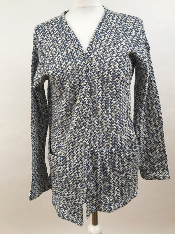 Cardigan - Blue White Gold Flakes