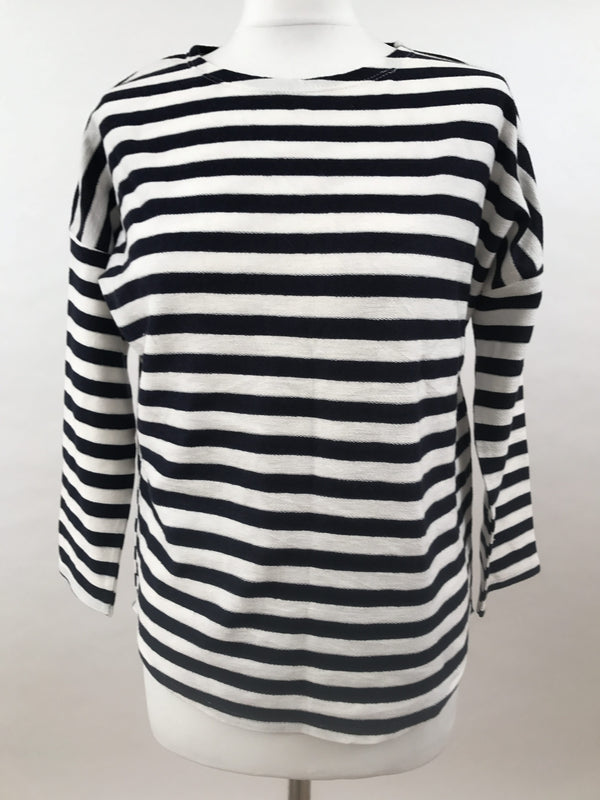 Upper Hip Length - Classic Navy Stripe