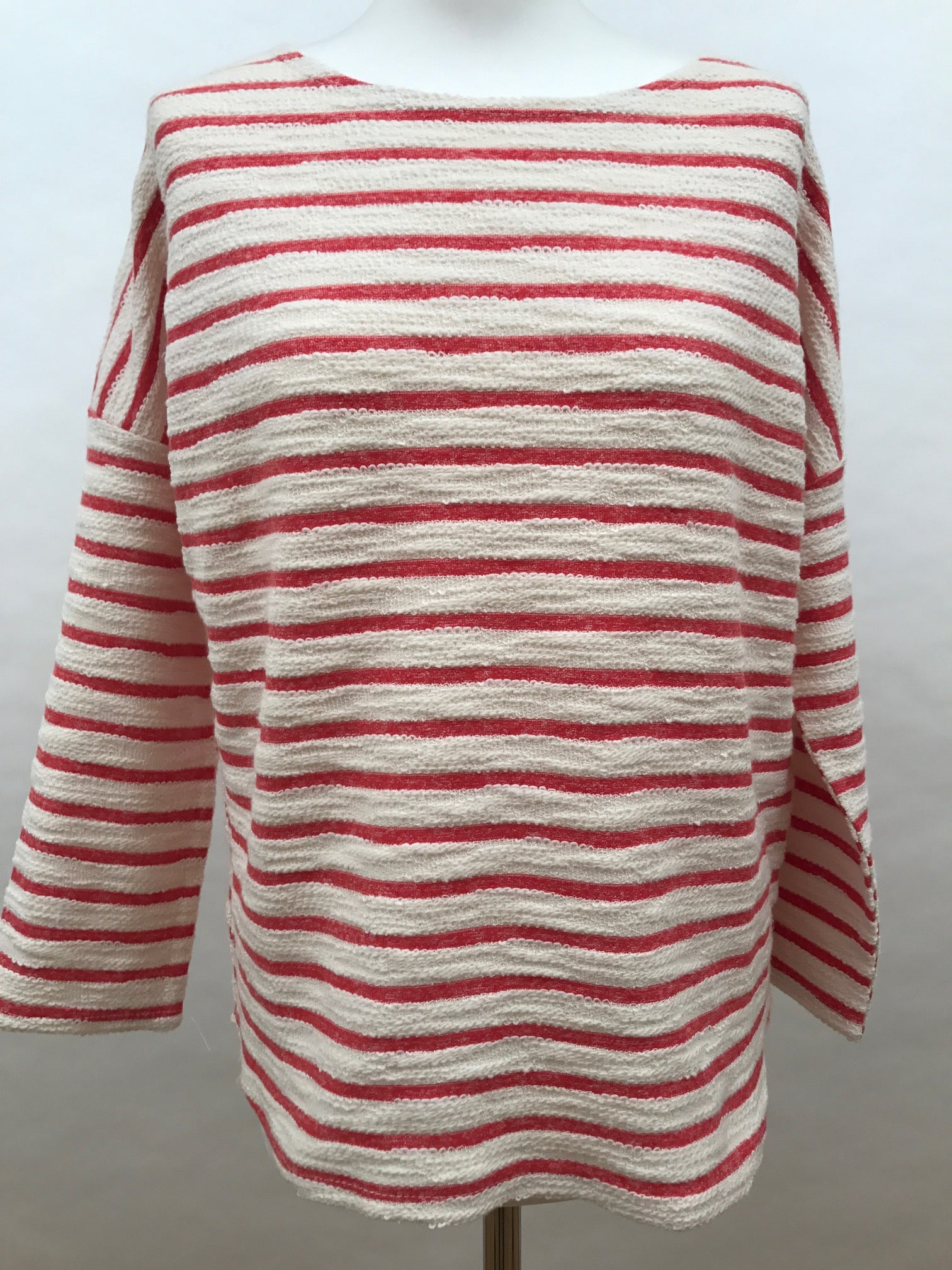 Long Sleeve Top - Red Stripe Fluffy