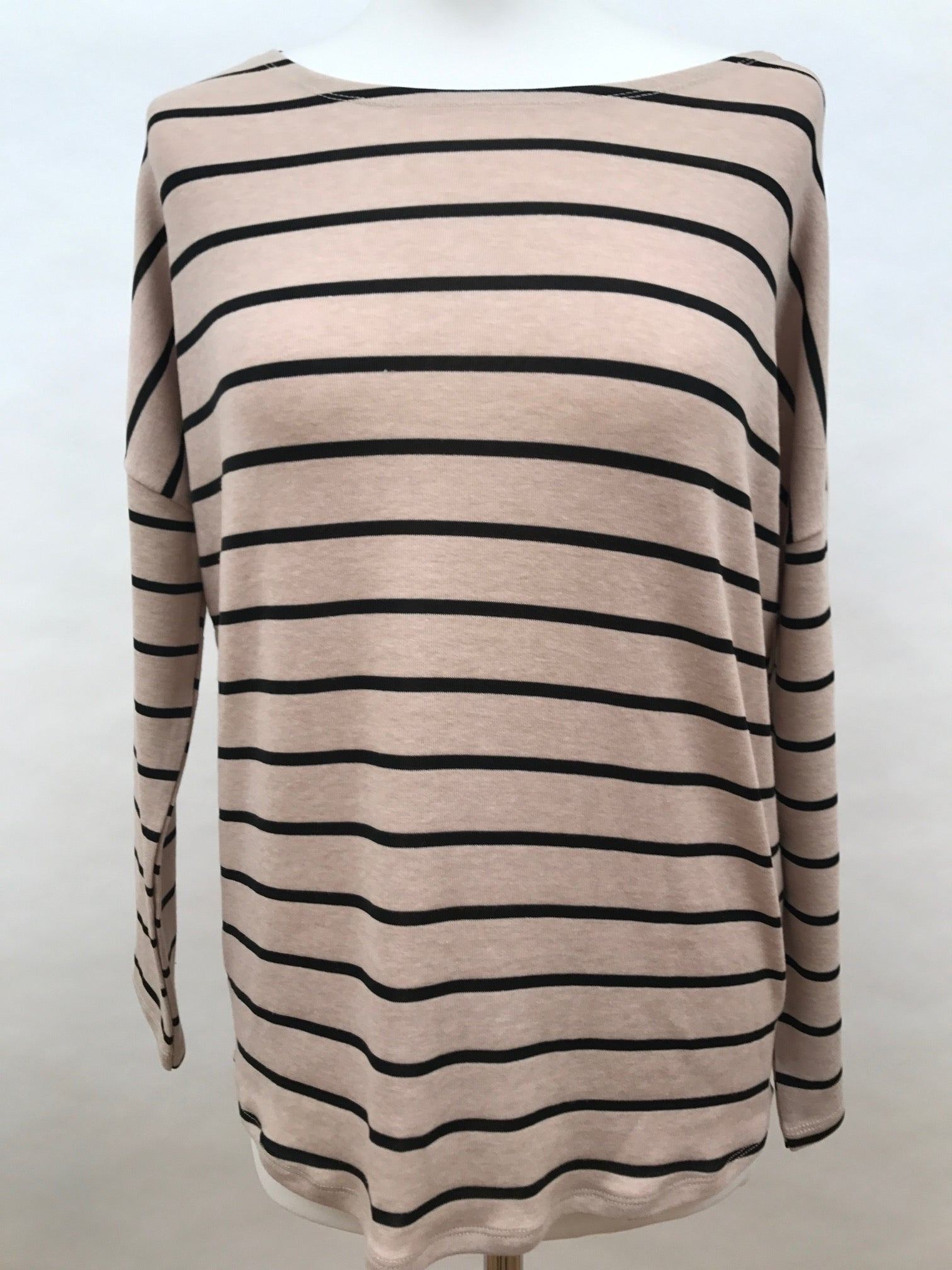 Long Sleeve Top - Beige Stripes