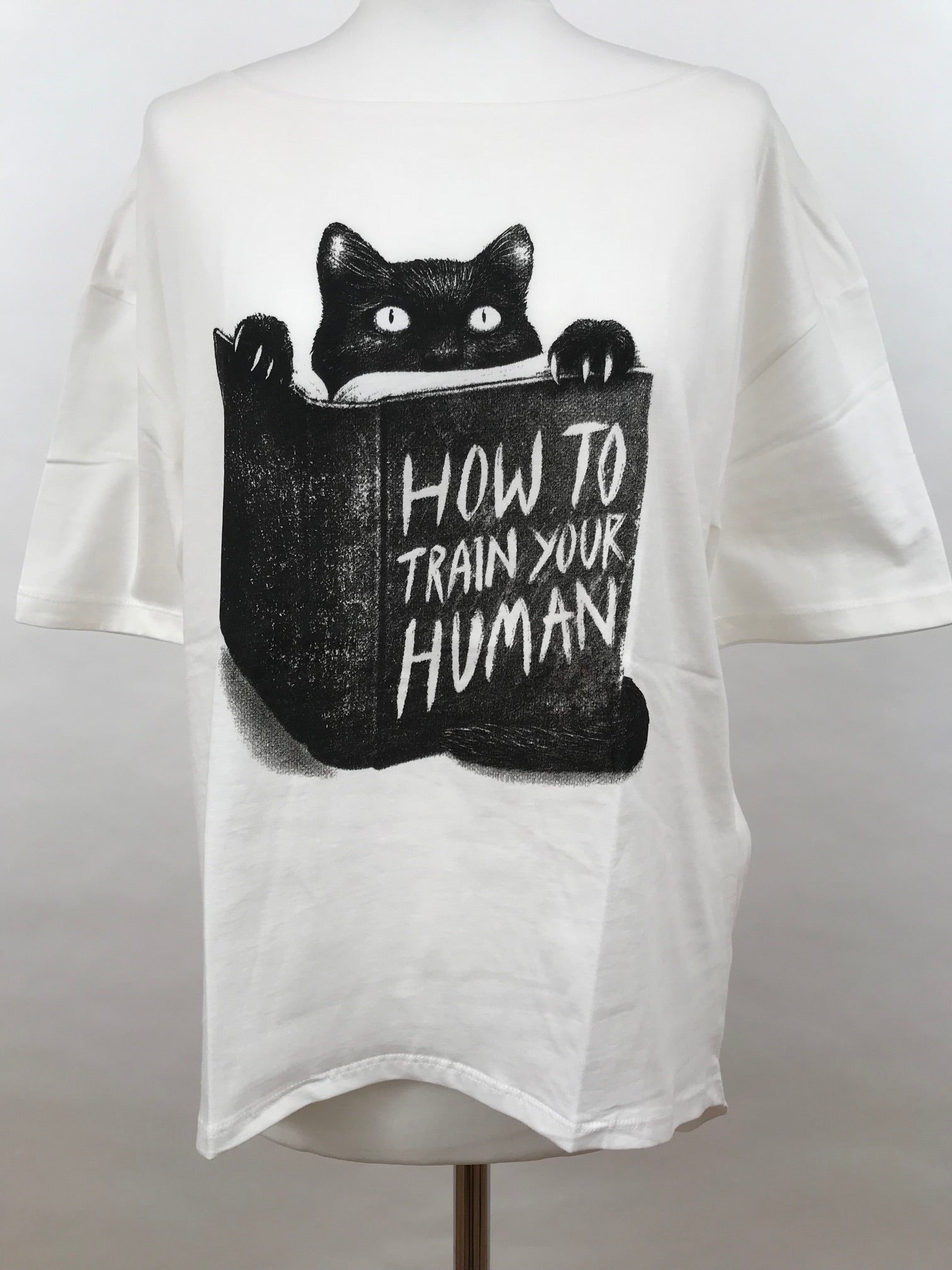 Oii Oversize T-Shirt Cat Train Human