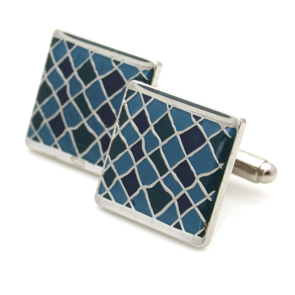 Barnes Cuff Links, Checkered Pattern