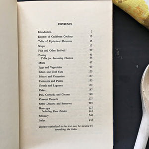 Vintage 1960's Caribbean Cookbook - The Art of Caribbean Cookery by Carmen Aboy Valldejuli- 1963 Edition