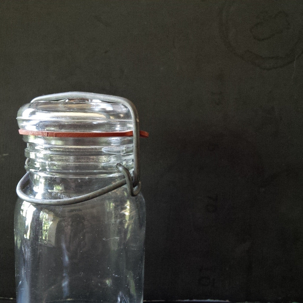 Vintage Wheaton Canning Jar - Hinged Lid - One Cup Capacity
