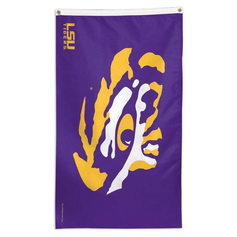 NCAA LSU Tigers team flag for sale for flying on a telescoping flagpole