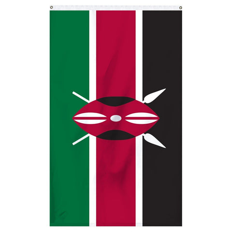 The national flag of Kenya for sale to buy online from Atlantic Flag Pole