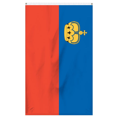 The national flag of Liechtenstein for sale to buy online for parades, flagpoles, and flag collections.