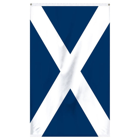 Scotland National flag with cross for sale to buy online. Blue flag with white cross.