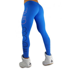New Women's Fitness Leggings High Elastic Boss Girl Printing Workout Women Slim Trousers Breathable Legging Bodybuilding Clothes