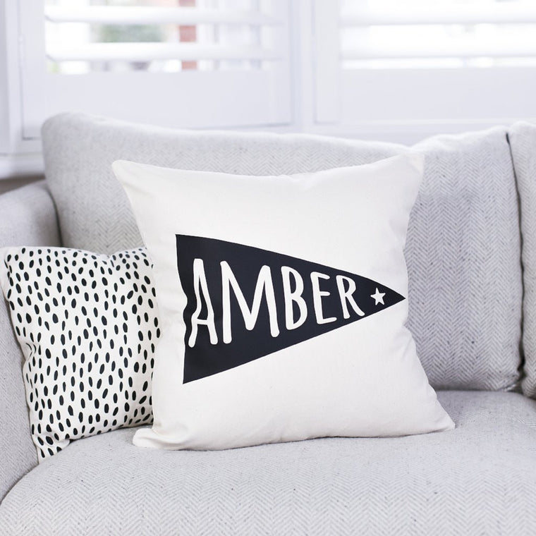 Name Flag Cushion