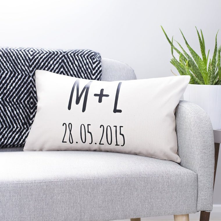Couples Initials Cushion