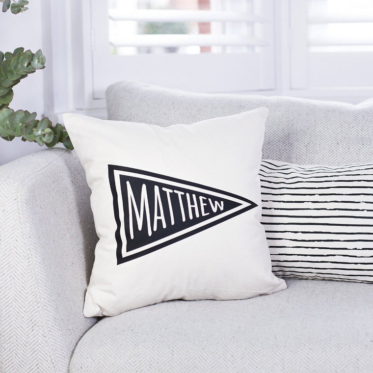 Pennant Flag Name Cushion