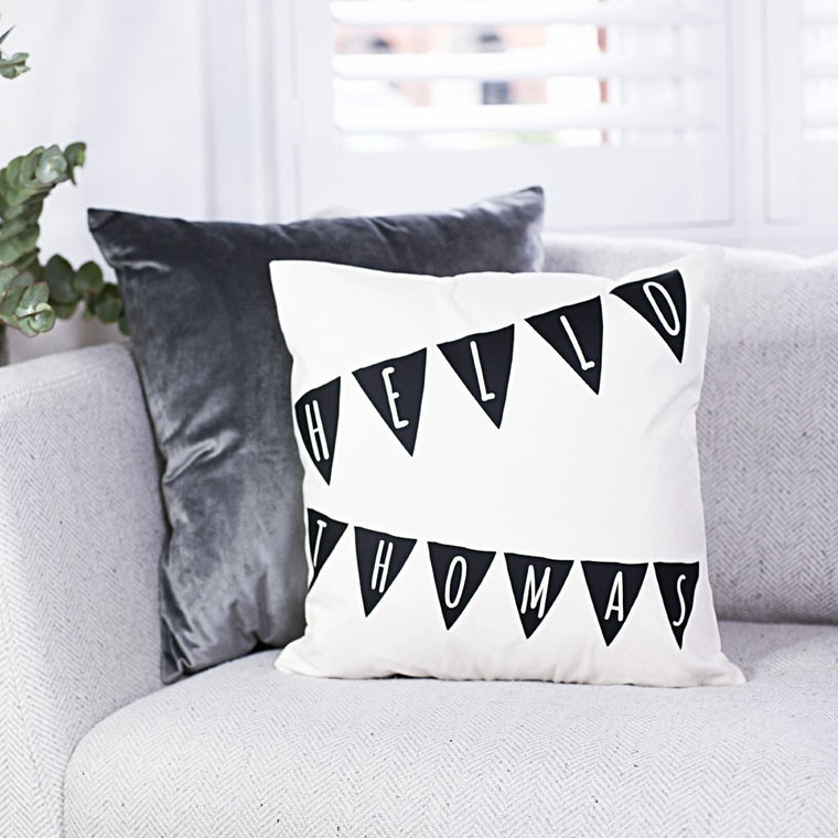 Nursery Bunting Cushion