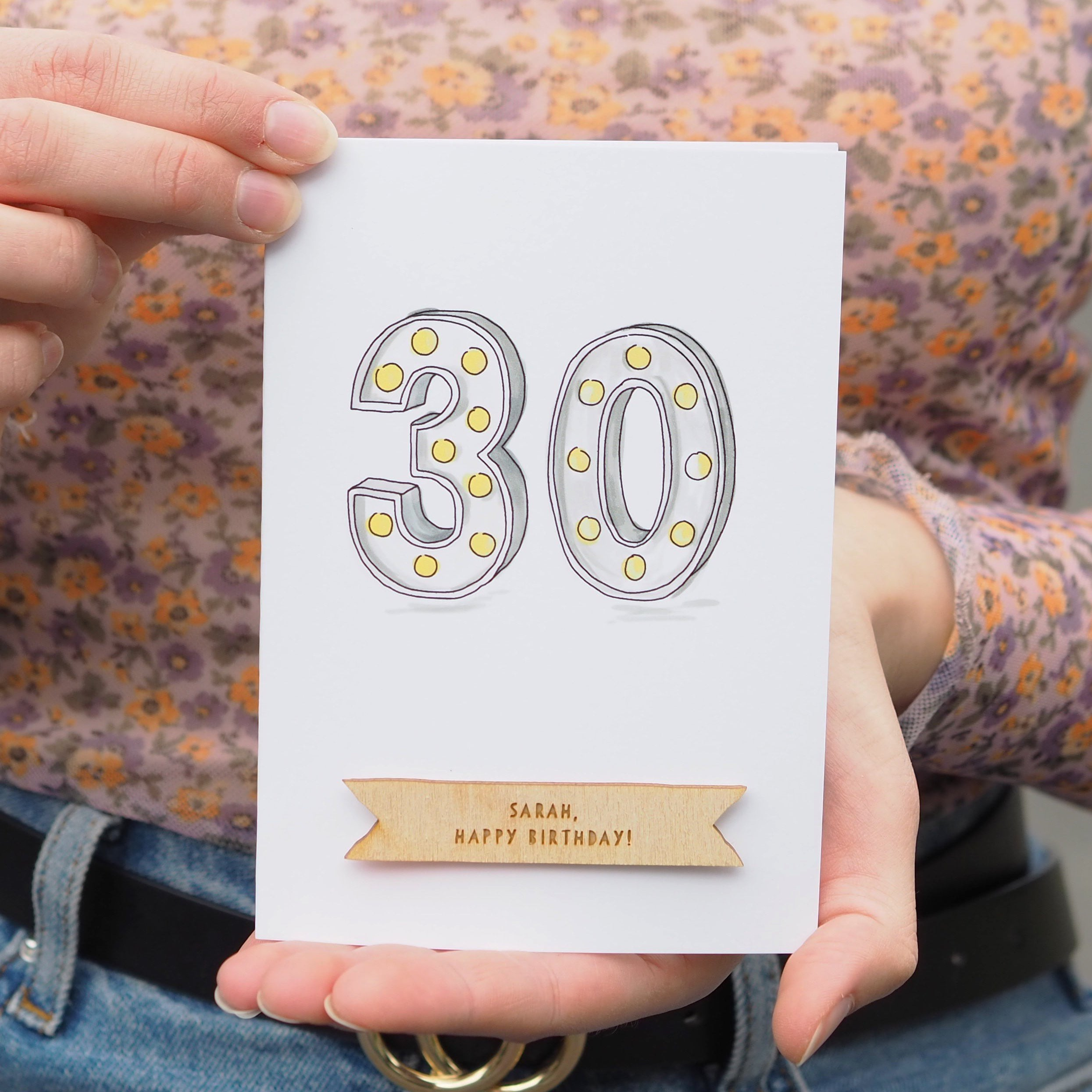 Personalised 30th Birthday Card-clouds-and-currents