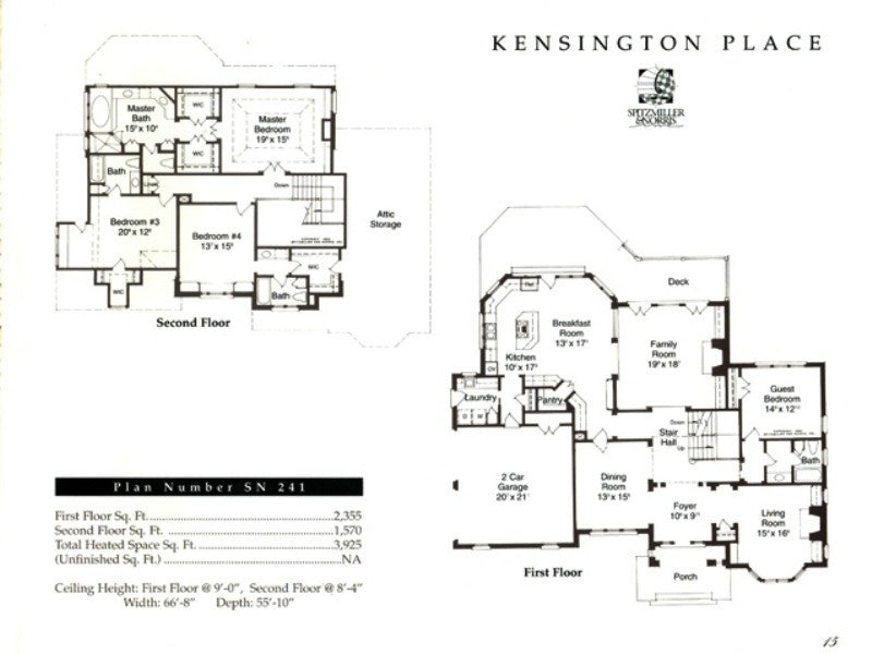 Kensington Place Spitzmiller Amp Norris House Plans