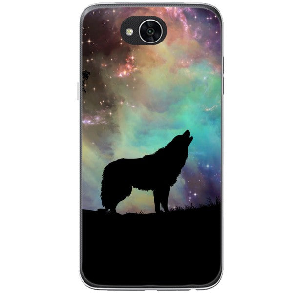 Husa Wolf starry sky silhouette art LG X Power 2