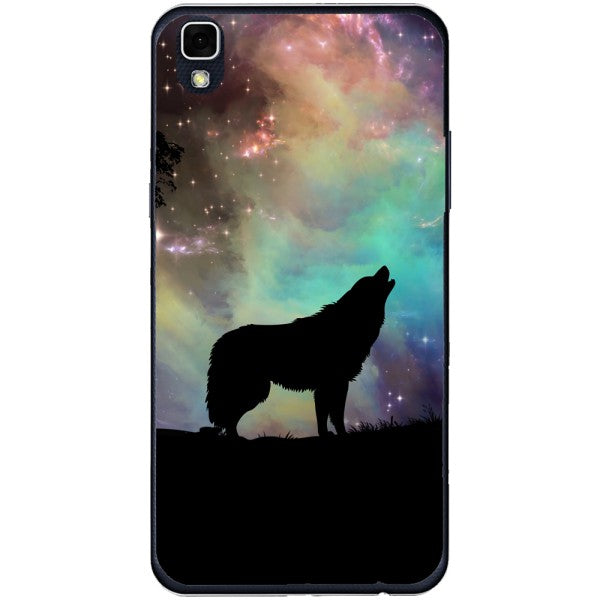 Husa Wolf starry sky silhouette art LG X Power