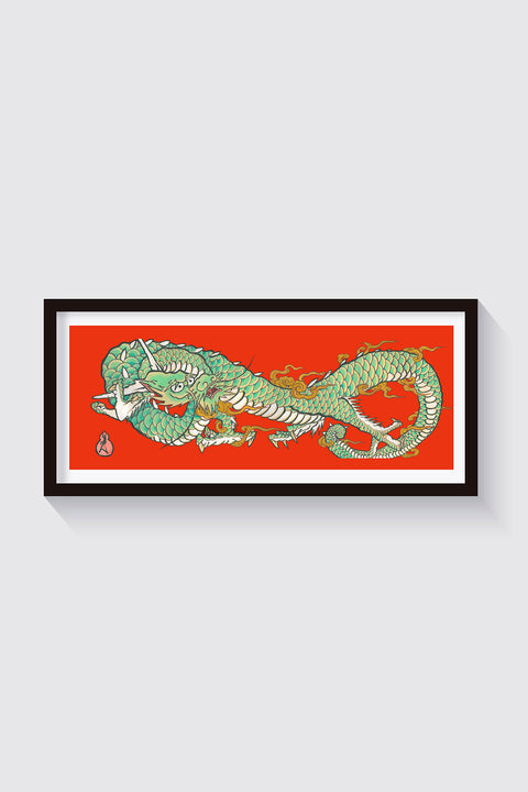 Dragon, limited edition print by Crez