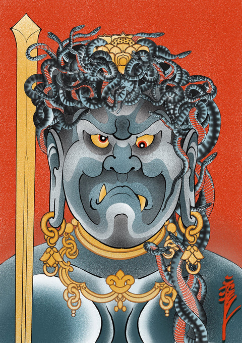Fudo, limited edition print by Crez