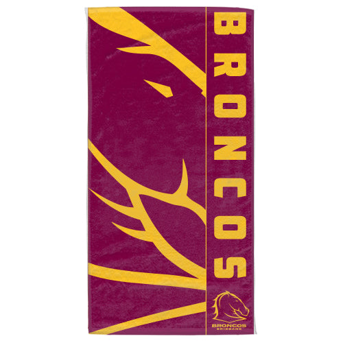 Brisbane Broncos Beach Towel