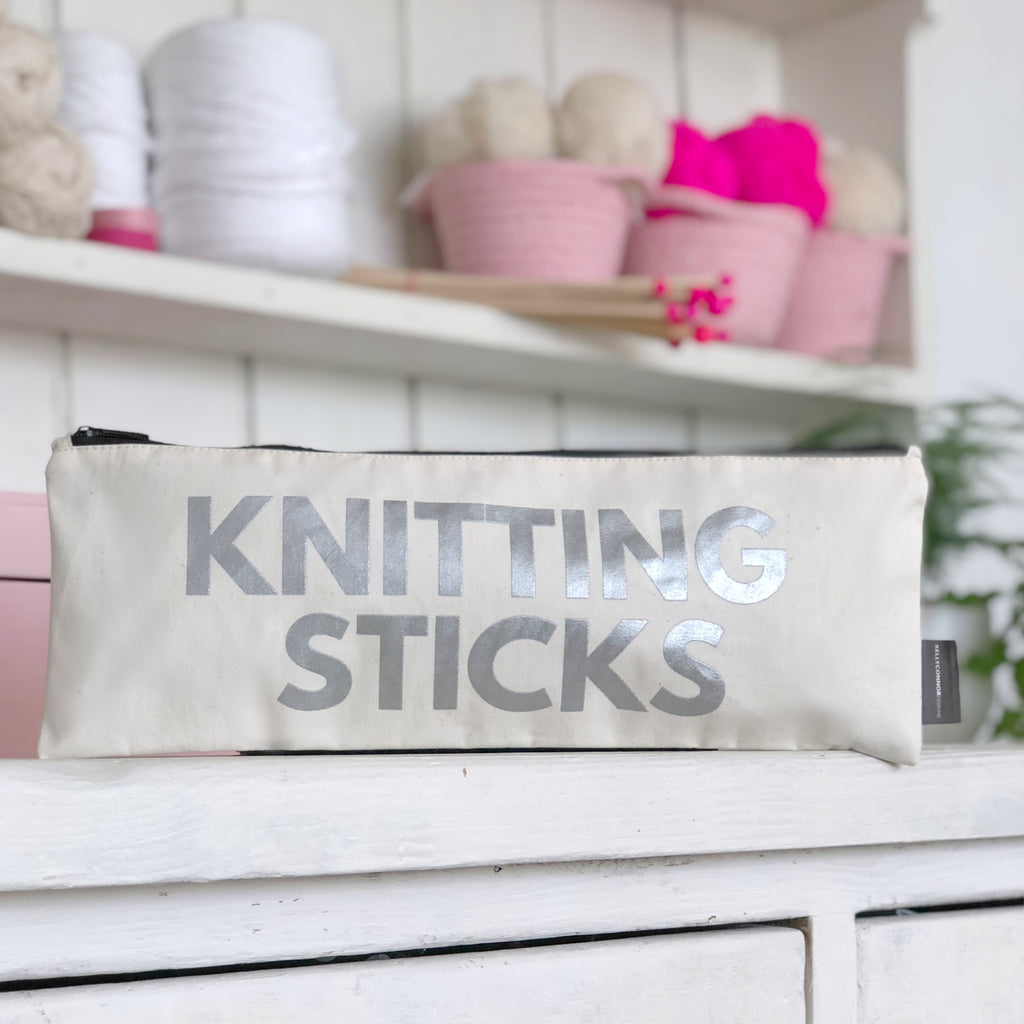 'Knitting Sticks' Knitting Needle Bag | Kelly Connor Designs