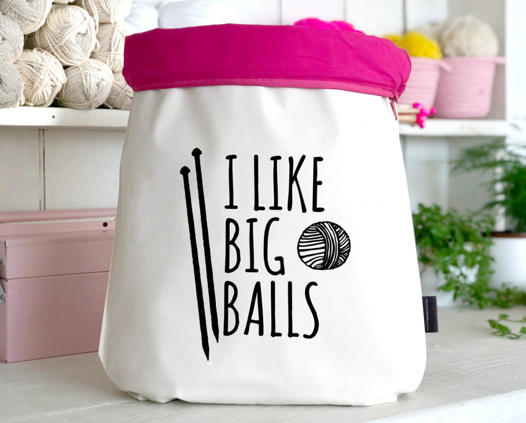 'I Like Big Balls' Roll Top Bag | Kelly Connor Designs