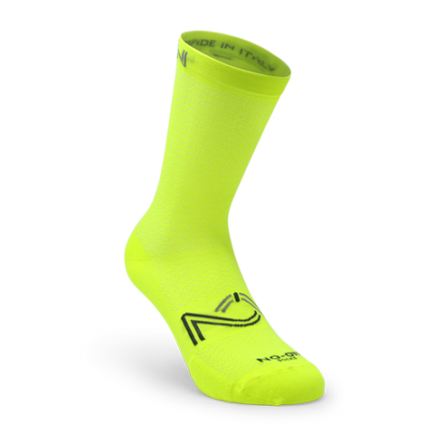 Yellow Fluo Color Performance Sport Socks, made in Italy.