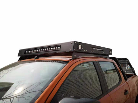 Mitsubishi Triton (2006-2016) ML & MN Dual Cab ULTIMATE Roof Rack - Integrated Light Bar & Side lights