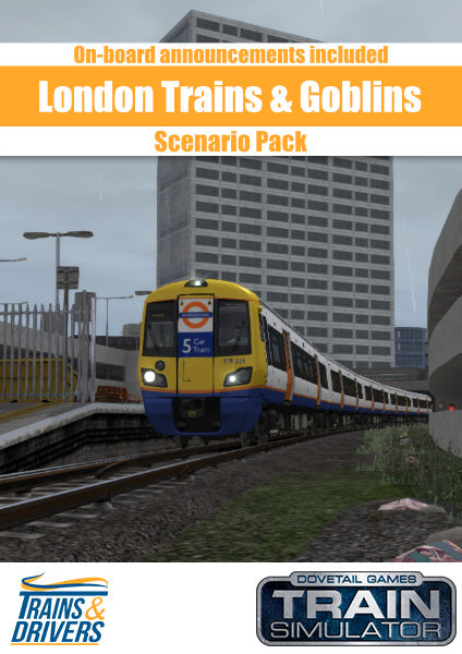 Our Trains & Drivers: London Trains & Goblins Scenario Pack, for Train Simulator, features six prototypical scenarios with realistic on-board announcements on the North London & Goblin Route Add-On. Weave your way through the dense traffic on this very busy commuter line following prototypical timetables with your Class 378 and Class 172 EMUs.
