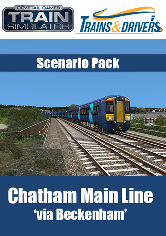 Product pack shot of the 'Chatham Main Line' scenario pack for Train Simulator
