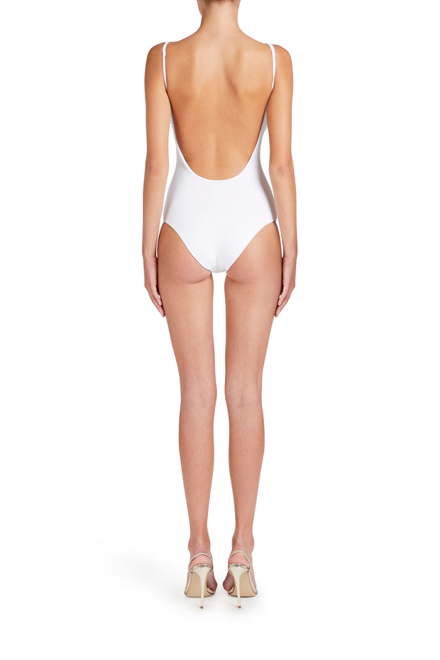 One-piece White Swimsuit