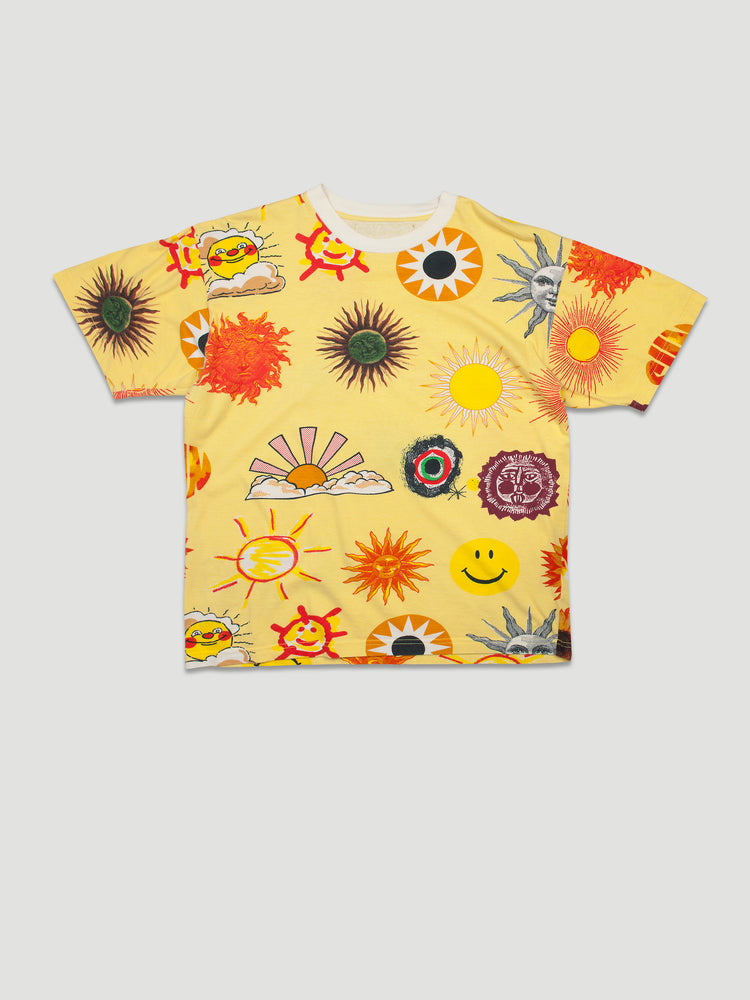 1990s T-shirt with Sun Print