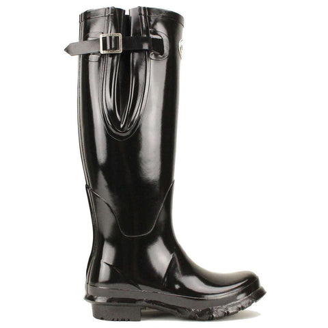 Rockfishwellies.com Rockfish Women's Tall Adjustable Gloss Black Wellington