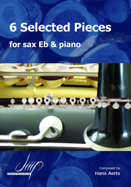 Aerts - 6 Selected Pieces for Eb Saxophone and Piano - SP116021DMP