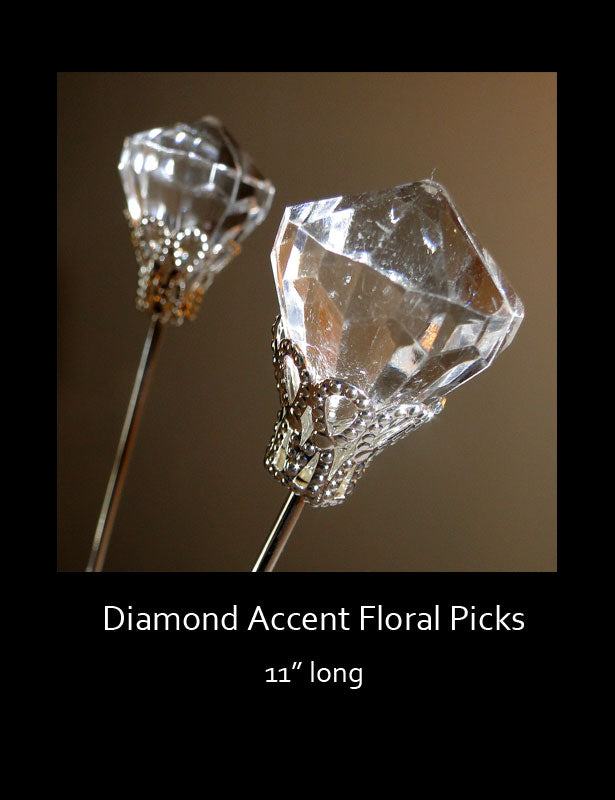These diamond picks are fabulous accents when used in large floral centerpieces.