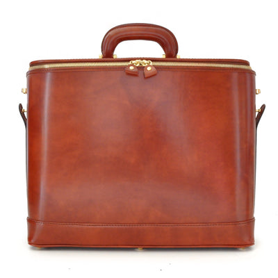 "Pratesi Unisex Italian Leather Raffaello 17"" Laptop Bag in Cow Leather"