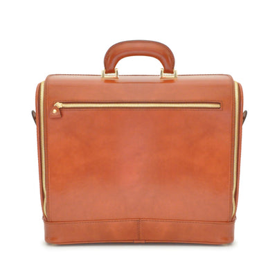 "Pratesi Unisex Italian Leather Raffaello 15"" Laptop Bag in Cow Leather"