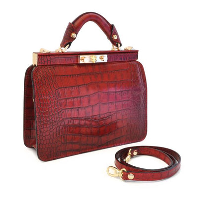Pratesi Womens Italian Leather Vittoria Colonna King Woman Bag in Real Leather