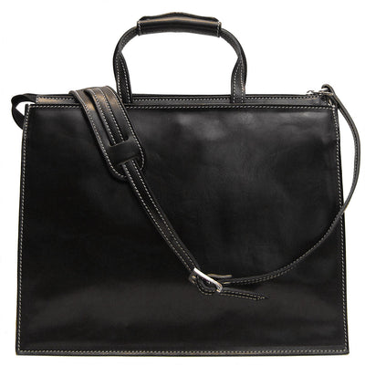 Floto Mens Trastevere Leather Attache Briefcase