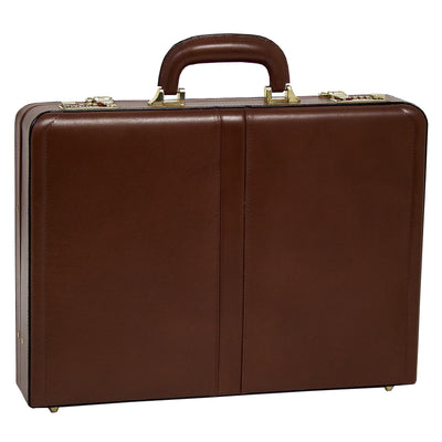 McKlein Mens REAGAN Leather Attache Case