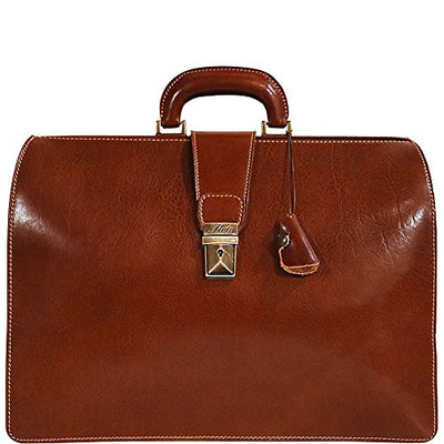 Floto Mens Ciabatta Attache Briefcase in Brown