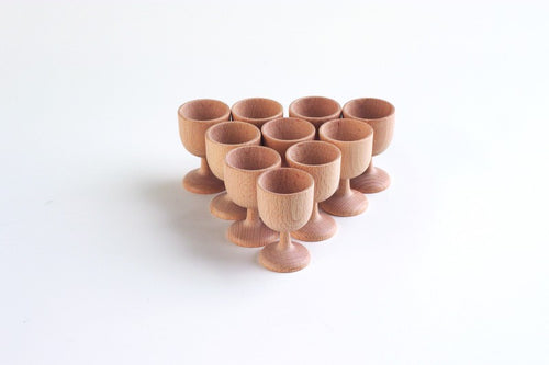 Smooth Wooden Plain Egg Cup 70mm - Treasure Basket Single