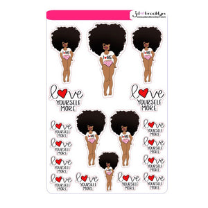 Big Hair Self Love Anniversary Sheet  with Tipsy Dog Designs