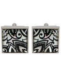 Boteh Art - Black Mother of Pearl Cufflinks